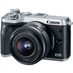 Canon EOS M6 SILVER with EF-M 15-45mm Lens Kit Mirrorless Digital...