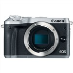 Canon EOS M6 Mirrorless Digital Camera (Silver, Body Only)