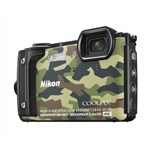 Nikon COOLPIX W300 Digital Camera (Camouflage Green)