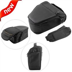 Medium Deluxe Camera Bag for Digital SLR Camera with Attached Lens