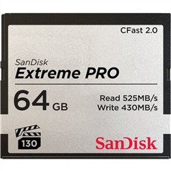 Sandisk Extreme Pro 64GB CFast 2.0 525mb/sec