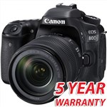 Canon EOS 80D with 18-135mm Camera Lens Kit with 5 Year...