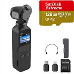 DJI Osmo Pocket with Sandisk 128GB A2 Extreme MicroSD Bundle 4K G...