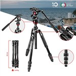 Manfrotto  Befree Live Travel Tripod with Fluid Video Head MVKBFR...