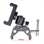 Universal C Clamp 1/4in thread + Ball Head Bonus Phone Holder