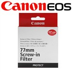 Canon Genuine 77mm Screw-in Protector Filter Protect