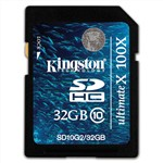 Kingston 32GB SDHC Class 10 Flash Card