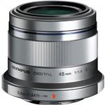 Olympus M. Zuiko Digital ED 45mm F1.8 Lens Silver