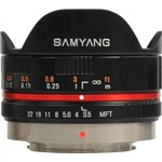 Samyang 7.5mm 1:3.5 UMC Fish-eye MFT BLACK For Micro Four Thirds
