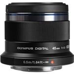 Olympus M. Zuiko Digital ED 45mm F1.8 Lens Black