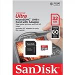 Sandisk 32GB Ultra MicroSD 80MB/sec (Class 10) Micro SDHC
