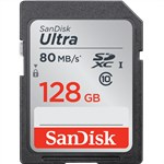 Sandisk Ultra 128GB SDXC 80MB/s (Class 10) SD Card