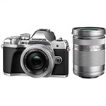 Olympus OM-D E-M10 III with 14-42mm EZ 40-150mm Twin Lens Kit Sil...