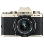 FUJIFILM X-T100 with 15-45mm Lens (Champagne Gold) Mirrorless Dig...